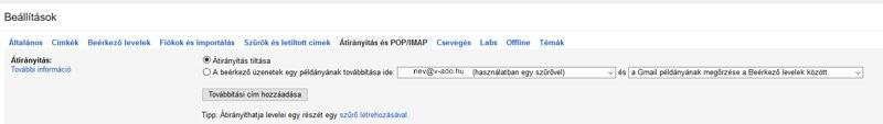 V-ado gmail beállítás 6 új