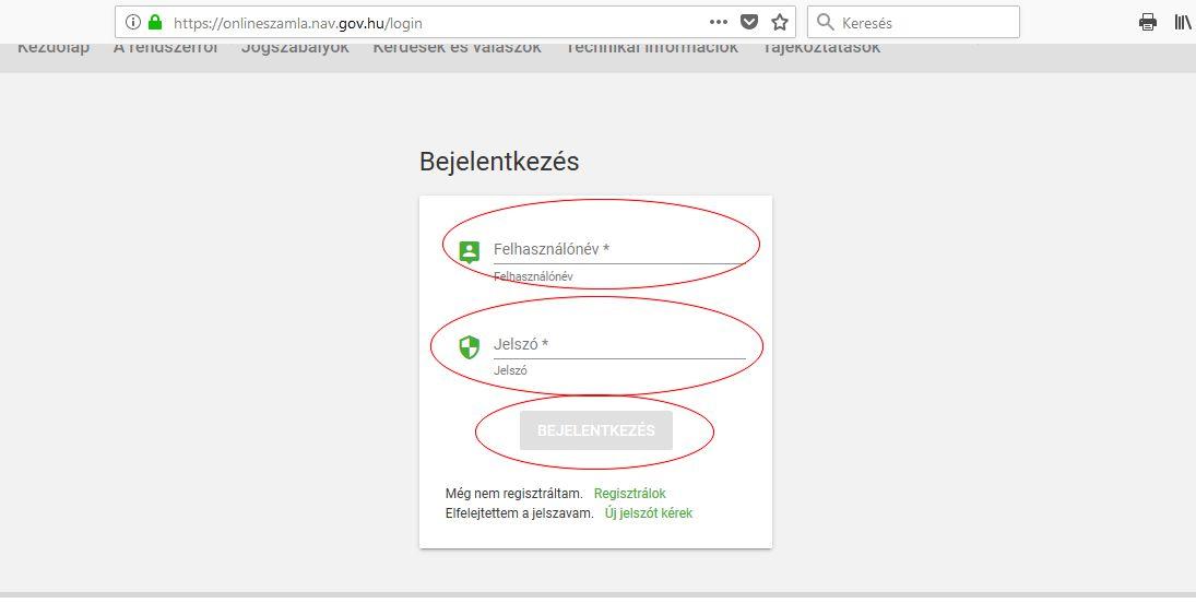 NAV online számla regisztráció 11. lépés