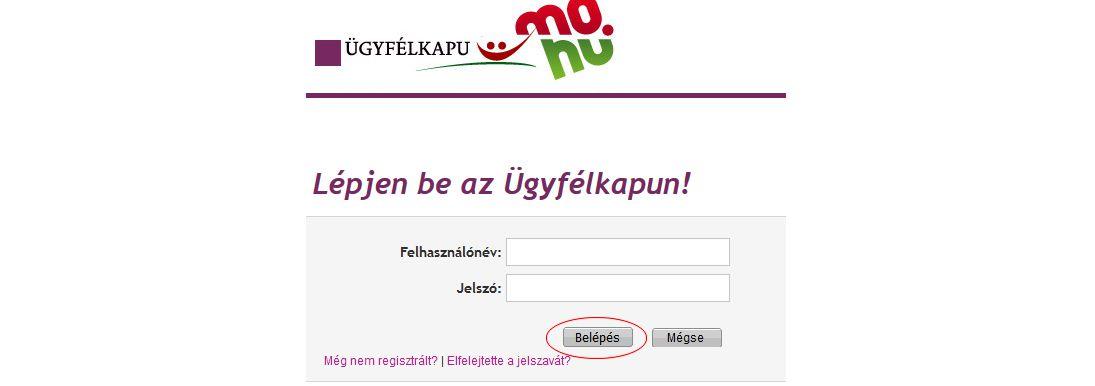 NAV online számla regisztráció 3. lépés