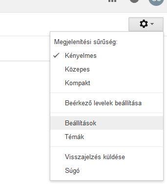 V-ado gmail beállítás 1