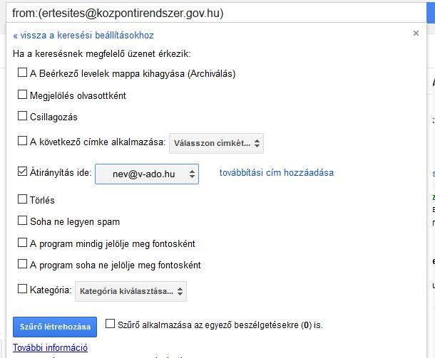 V-ado gmail beállítás 4