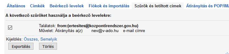 V-ado gmail beállítás 5
