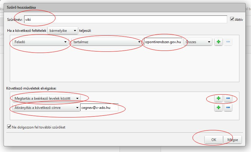 Viki email kliens Zimbra beállítás 2